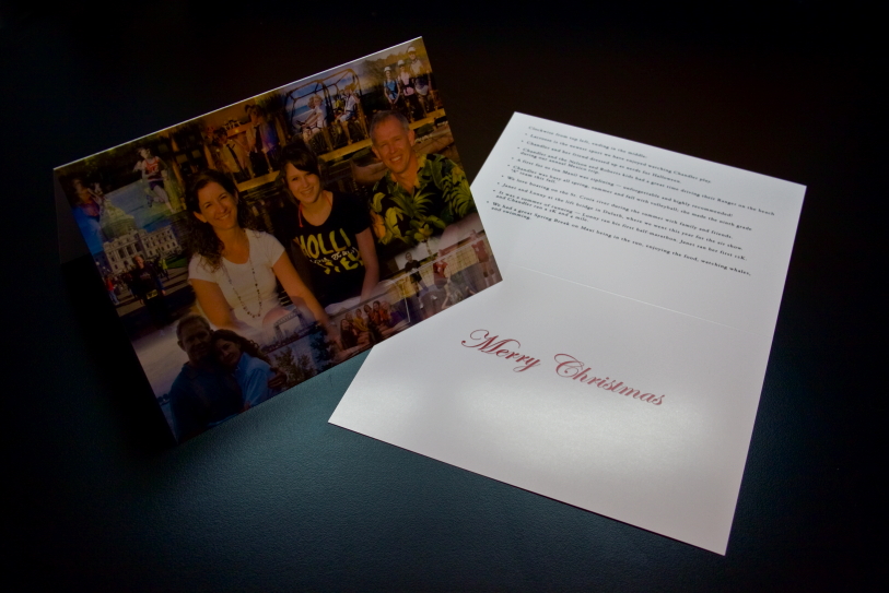 5 x 7 photo collage holiday card