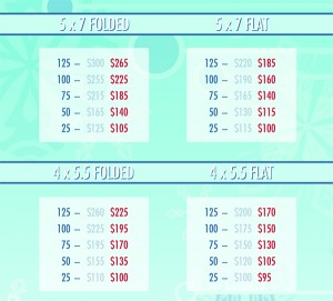 Holiday Collage Card Pricing
