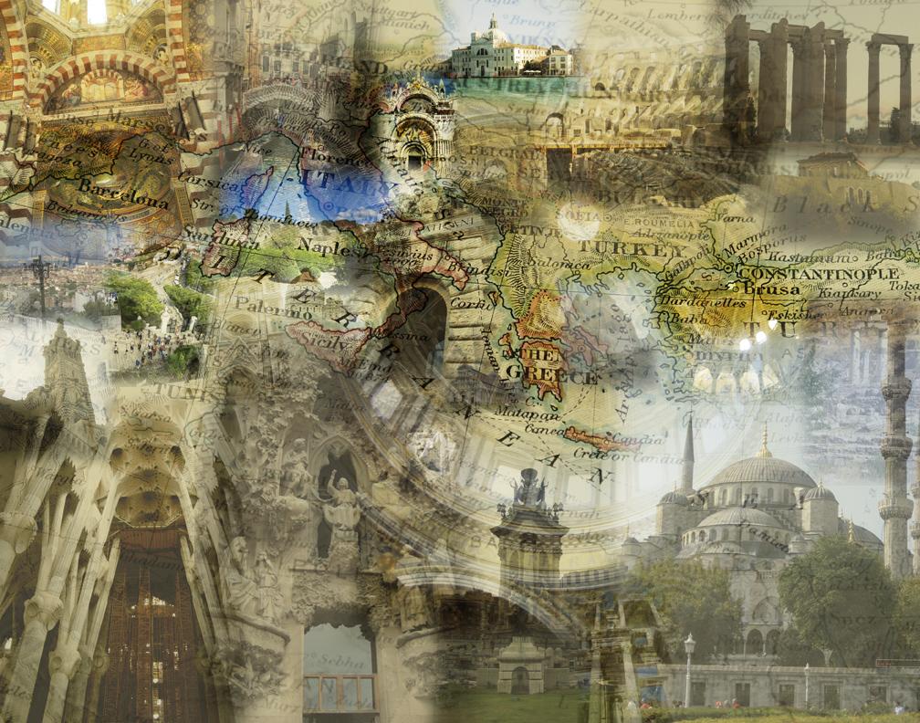 Mediterranean photo collage